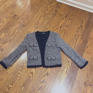 Topshop Cropped boucle sweater blazer